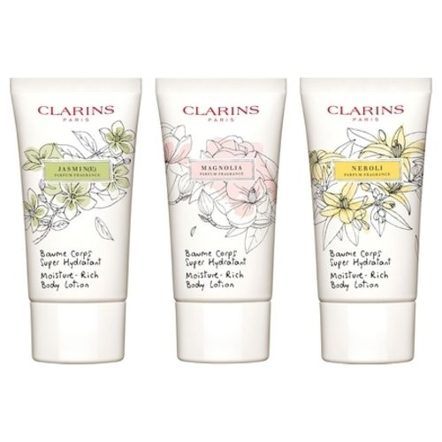 New from Clarins: Scented Super Moisturizing Body Balm