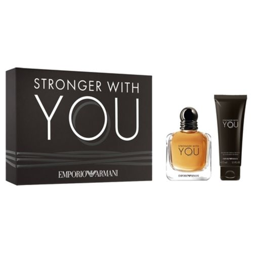 A box set for the new Armani Stronger with You perfume