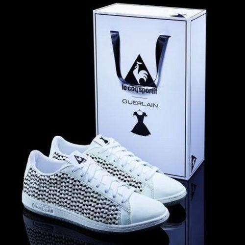 Le Coq Sportif and Guerlain design La Petite Robe Noire sneakers