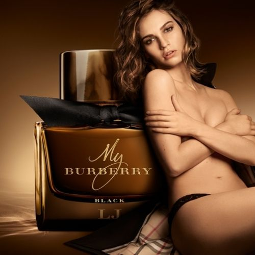 The advertisement of the new My Burberry Black